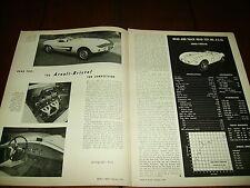 1956 ARNOLT BRISTOL SPORTS CAR  ***ORIGINAL VINTAGE ARTICLE***