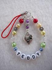 Personalised Dog / Cat / Pet Memorial Key / Bag Charm - Pet Loss  Rainbow Bridge