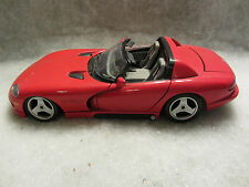 Bburago  Dodge Viper RT / 10  Red  1:18 scale  (11) Loose