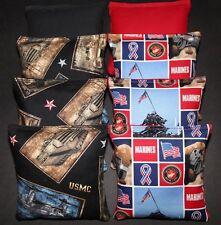 US Marines USMC Patriotic Cornhole Bean Bags 8 ACA Regulation Military Bags