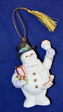 Lenox Snowman 2000 Millenium Ornament Excellent Condition