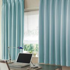 Light Blue Thin Velveteen Curtains,2x330cmx240cm drop