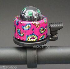 Fahrrad Glocke Klingel 41mm Kompas Retro Pink Fahrradklingel