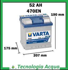 BATTERIA AUTO VARTA BLUE DYNAMIC C22 52AH 470A POS.DX 2 ANNI GARANZIA
