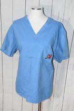 University of Utah Logo Women's Blue Short Sleeve Scrub Top