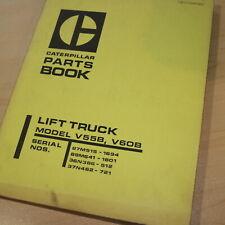 Caterpillar V55B V60B Forklift Truck Parts Manual Book catalog CAT TOWMOTOR list