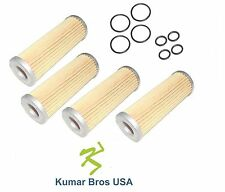 New FOUR(4) Kubota Fuel Filter with O-Rings15231-43560, 1T021-43560, 15231-43562