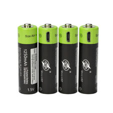4pcs ZNTER 1.5V AA 1250mAh Lithium Rechargeable Battery MICRO USB Charging