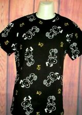 MENS PEANUTS SNOOPY BLACK T-SHIRT SIZE L