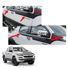 On New Chevrolet Holden Colorado 17 + Side Molding Exterior Window Black Red 4Pc