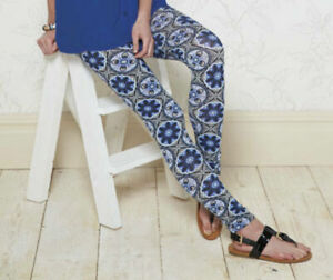 NEW FROM 'B. YOU' FULL LENGTH FLORAL LEGGINGS ~ UK SIZE SMALL ~ BNWT