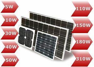 Solarmodul Solarpanel 12V 5 10 30 40 50 100 130 150 160 180 325 330 370Watt Mono