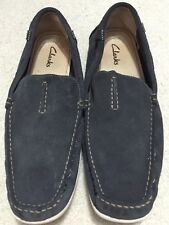 Clarks Mens Grey Casual Leather Shoes Size 11 M