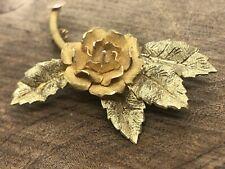 Rose Flower pin pendant 8.75g vintage Beautiful 3-D Brooch 18K yellow gold