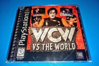 WCW vs The World PlayStation 1 1997 PS1 Complete Tested Black Label Resurfaced