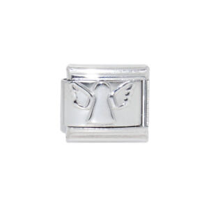 Angel Silver Coloured Italian Charm - fits 9mm Classic Italian charm bracelets