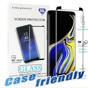 3D Curved Case-Friendly Samsung Galaxy Note 20,Note 10,S9 S8 HD Tempered Glass