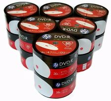600 HP Blank DVD-R DVDR White Inkjet Printable 16X 4.7GB Disc FREE EXPEDITED