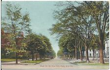 West 6th Street From City Park in Erie PA Postcard 1908