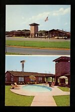 Texas TX Postcard San Marcos Manor House Inn and Restaurant swimming pool chrome