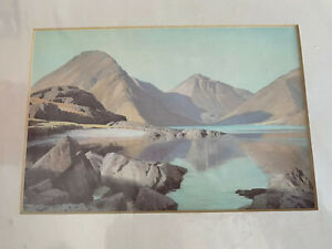 Water Colour Print-Clear Evening 'Wastwater' W Heaton Cooper 1903-1995