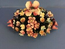 Porcelain Capodimonte Flowers Bouquet