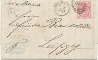 GB SG 143 pl.12 1874 QV 3d rose pl.12 (PH) superb entire Duplex LONDON-E.C / 96