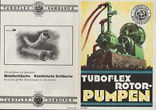 HAMBURG, Werbung 1933, Turboflex Rotor-Pumpe Metall-Schläuche