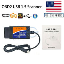 OBD2 Repair Tools USB V1.5 Auto Cable CAN-BUS Code Reader Scanner PC Connection