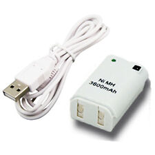 Xbox 360 Rechargeable Controller Battery Pack with Cable Lead USB Games NiMH