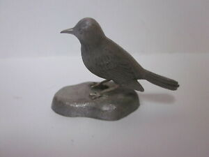 VINTAGE CREED PEWTER ROBIN BIRD FIGURINE