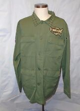 Kill City Patched Olive Green Army Jacket Coat Size XL/Extra Large S/O $95 NWOT