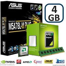 CPU AMD 145 4GB DDR3 ASUS M5A78L-M PLUS USB3 Bundle di aggiornamento della scheda madre di gioco