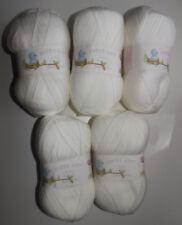 James C Brett 4ply Baby Wool 100 Acrylic Knitting Yarn By4 White