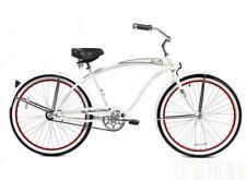 "Micargi 26"" Rover Men beach cruiser bicycle bike white"