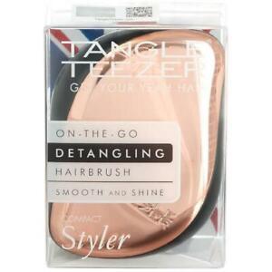 Tangle Teezer Compact Styler Rose Gold Black Detangling Hairbrush