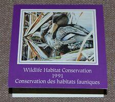 Canada Wildlife Habitat Conservation (Ducks) 1991 complete booklet