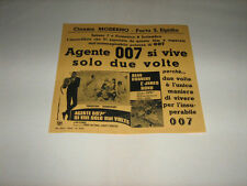 AGENTE 007 SI VIVE SOLO DUE 2 VOLTE,S.CONNERY,1967,VOLANTINO,You Only Live twice