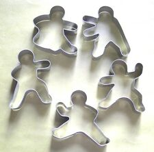 5 Pcs Kung Fu Fighting Ninja Baking Pastry Cookie Cutter Mold Metal Set