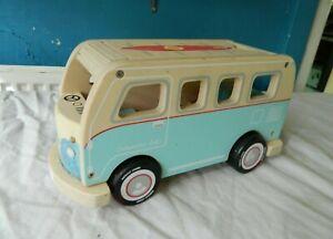 """Indigo Jamm Toy Wooden VW Campervan 9"""""""