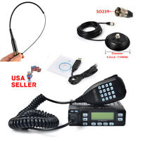 25W Mobile FM Transceive Ham 2 Way Radio with vhf/uhf antenna and Magnetic Base
