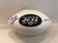 Curtis Martin Signed New York Jets White Logo Football HOF 12 Inscription COA