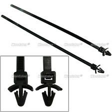 50pc Automotive Cable Strap Push Mount Wire Tie Retainer Clip Clamp 200mm Length