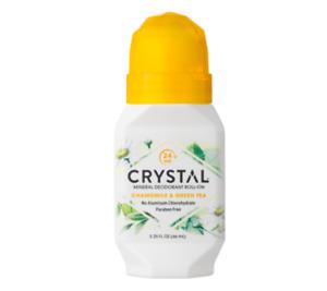 Crystal Mineral Roll On Deodorant - Chamomile & Green Tea 66ml