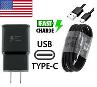 Adaptive Fast Travel Wall Charger For Samsung Galaxy S9 S8 Plus Note 8 w/Cable