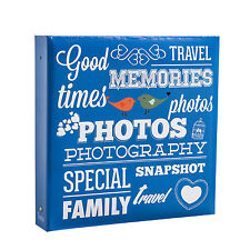"""Slip Arpan grandes anillas en álbum de fotos sostiene 500 6×4"""" Fotos-Azul AL-9573"""
