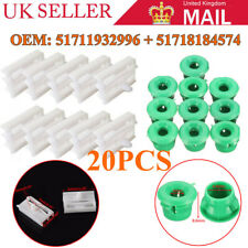 20pcs Plastic Side Sill Skirt Trim Moulding Clips Grommet For BMW 3 Series UKLE