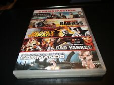 5 Dvd nf L'AGENCE TOUS RISQUES / BAD ASS / DEADLY IMPACT / BAD YANKEE / COMMANDO