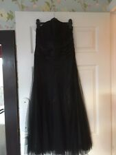 Black MONSOON Strapless Party/Prom Dress Silk Waistband Size UK 8 EU 36 - VGC