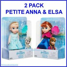 "NEW Disney Frozen Petite Anna & Elsa 6"" Mini Dolls With Combs - 2 Doll Pack"